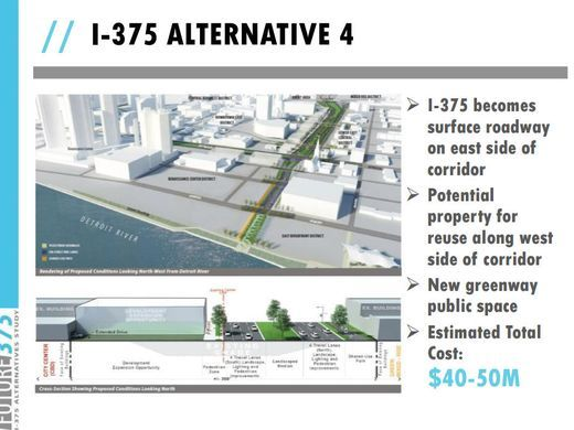 MDOT Planning Materials, Indicating My Favorite Replacement Plan, Which  Would Turn The Giant Highway Into A Surface Boulevard.